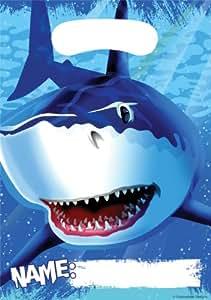 Kinderparty Deko Partytüte Hai Fisch, 8 St.