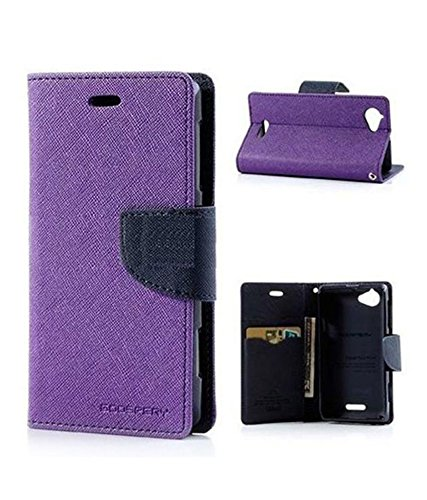 Flip Cover For Lenovo A6000 - Purple