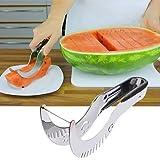 ShineVGift Watermelon Slicer-Ausstecher Edelstahl Melon Peeler