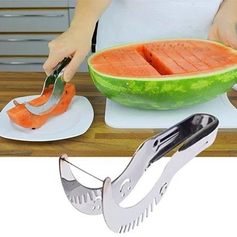 ShineVGift Watermelon Slicer carottier en acier inoxydable Melon Peeler