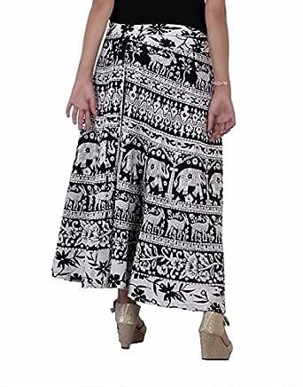 FEMEZONE l Long Cotton Wrap Skirt Black