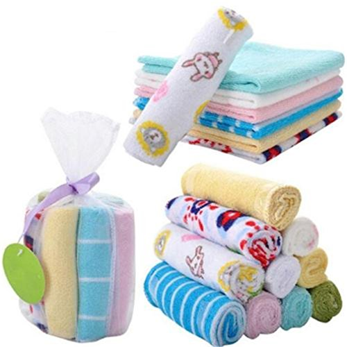 HENGSONG Pack of 8 Soft Cotton Baby Face Washers Hand Towels Washing Bath Shower Wipe Nursing Towel 51 2BJcPdkQ3L