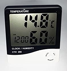 AMAR DIGITAL LCD CLOCK CUM HYGROMETER WITH TIME HUMIDITY TEMPERATURE DISPLAY FOR HOME OFFICE HOTEL