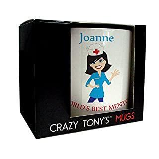 Nurse Mentor Gift, Mentors Mug, Personalised Thank You Gift, Crazy Tony's, Thanks For All Your Help Gift, Design 3