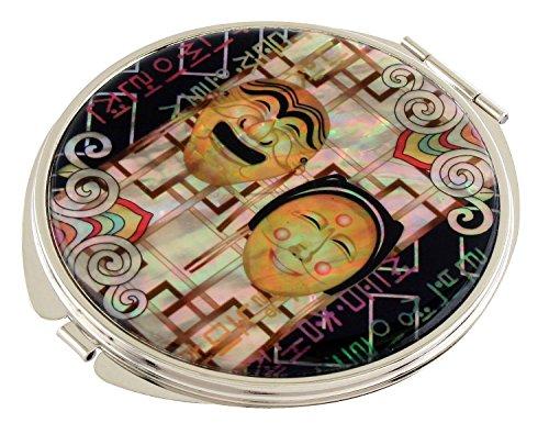 Mère de perle coréen Masque (1) Loupe Design Double Compact Sac à Main de maquillage Beauty Miroir de poche