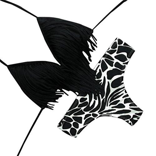 Costumi donna, doram 2018 costume da bagno bohemian bikini da donna estate (asia m, nero)