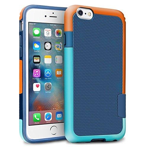 iPhone 6s Plus / 6 Plus Funda - [Ultra Hybrid] HanLuckyStars Funda Carcasa Case Parachoque TPU Matte Shell Exact Bumper Tope Shock Protección Gota Anti-Arañazos , Choque Absorción Borrar Espalda para Apple iPhone 6 Plus/6s Plus 5.5