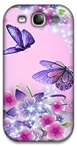 The Racoon Grip Fairies and Butterflies hard plastic printed back case / cover for Samsung Galaxy S3