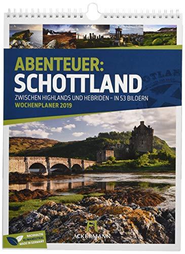 Schottland - Wochenplaner 2019, Wandkalender im Hochformat (25x33 cm) - Wochenkalender mit Rätseln und Sudoku auf der Rückseite
