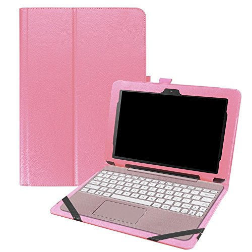 KATUMO ASUS Transformer Book T101HA Hülle, Hülle Case Schutzhülle Tasche für ASUS Transformer Book T101HA 10.1 Zoll 2016 Tablet mit Standfunktion, Pink