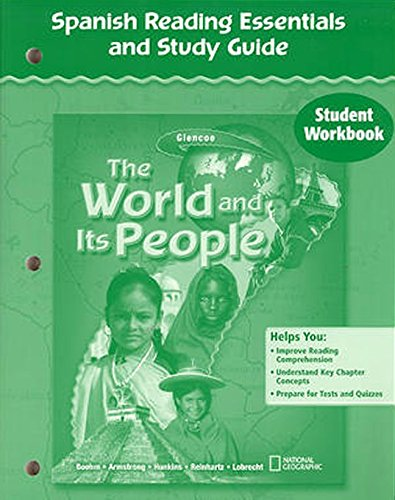 The World and Its People, Spanish Reading Essentials and Study Guide, Student Workbook (Geography: World & Its People) por Mcgraw-Hill Education
