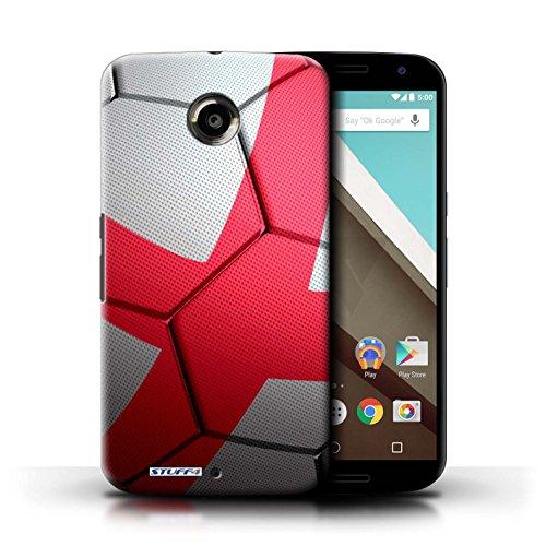 Kobalt® Imprimé Etui / Coque pour Motorola Nexus 6 / Angleterre conception / Série Nations de Football Angleterre