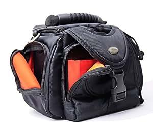 Kameratasche schwarz außen / orange innen