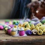 caxmtu Rückfluss Räucherkegel natur Smoke Innen Aromatherapie ROSE Lavendel Jasmin gemischt Geschmack