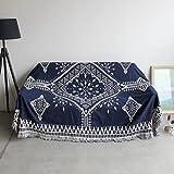 Max Home Weiche Decken Cotton Line Blanket Klassische Mode Fringe Design Single Double Triple...