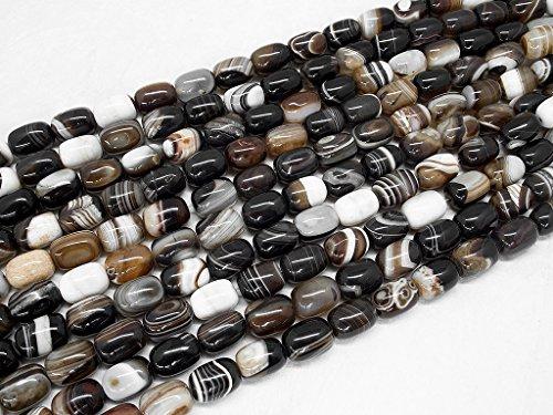 Beads Ok, DIY, Achat, Braun, Gefärbt, 13x19mm, Edelsteinperle, Halbedelstein, Schmuckperlen, Perle Einfach Trommel, über 38cm EIN Strang. (Agate, Brown, Color Enhanced, Drum Bead)