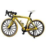 LAWARY Scala 1:10 Diecast in Metallo Mini Modello di Bicicletta Collezione Bici realistica Giocattolo Mini Modello Ornamenti Scultura Dito Bikes Decorazione