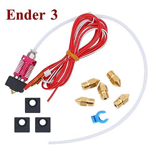 Tresbro Creality Ender 3 Original Hotend Kit Ensamblado 1.75mm 0.4mm MK8 Extrusora de Aluminio Hot End, 24V 40W