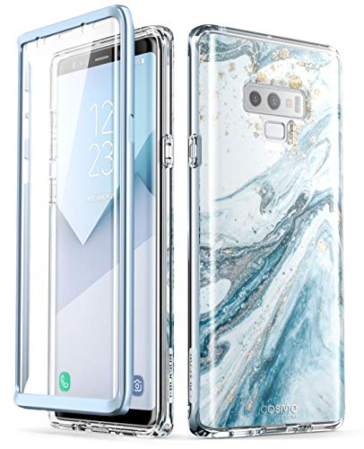 Samsung Galaxy Note 9 Case, i-Blason [Cosmo] Full-Body Bling Glitter Sparkle Clear Bumper Case with Built-in Screen Protector for Galaxy Note 9