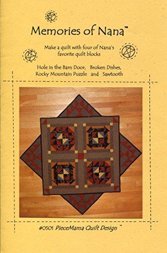 piecemama Quilt Design Muster 0501Erinnerungen von Nana -