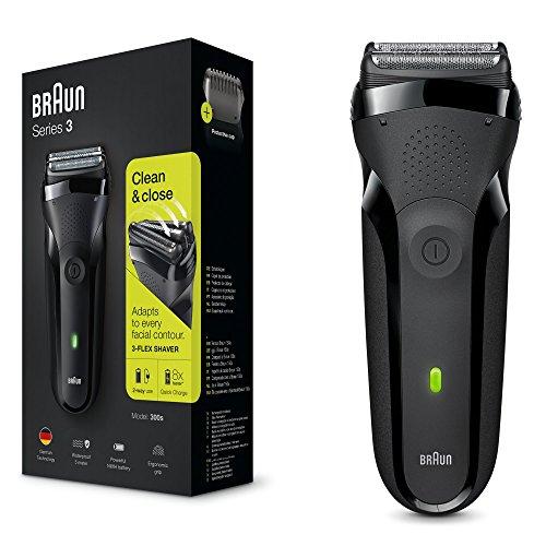 Braun Series3300s wiederaufladbarer Elektrorasierer, schwarz
