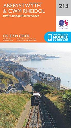 Aberystwyth and Cwm Rheidol (OS Explorer Map, Band 213)