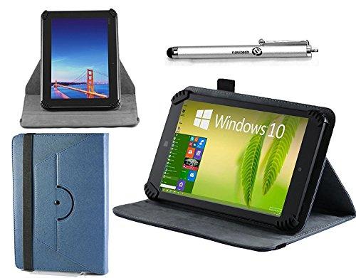 Navitech Blau Ledertasche / Abdeckung mit 360 drehbarem Standplatz mit stift für die KOCASO MX9200 9-Inch High Resolution Google Android Tablet