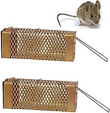 Krisah® 2 pcs Big Size Rat/Mouse/ Rodent Trap Cage (2, Large)