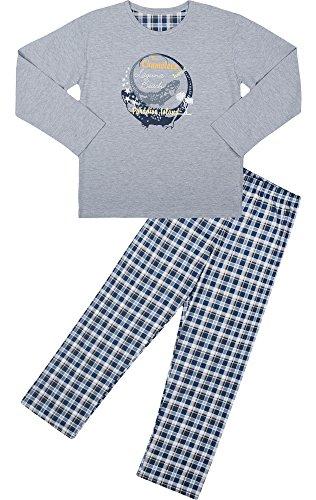 Cornette Jungen Schlafanzug Nachtwäsche Pajama CR-553-Young(Melange (Chameleon4), 182/L) (Hose Komfortable Nachtwäsche Kind)