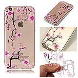 E-Mandala Apple iPhone 6S Plus 6 Plus Hülle Ultra Dünn Slim Durchsichtig Silikon Schutzhülle Handy Tasche Etui Handyhülle Transparent mit Muster - Kirschblüte Sakura
