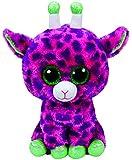 TY 99989 Gilbert, Giraffe mit Glitzeraugen, Glubschi's, Beanie Boo's, Plüsch, Rosa/Lila, 72 cm