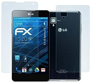 atFoliX LG Optimus G Displayschutzfolie (3er Set: 3 x Vorder- und 3 x Rückseite) - FX-Clear, kristallklare Premium Schutzfolie