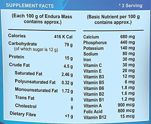 Endura Mass Weight Gainer - 500g (Vanilla)