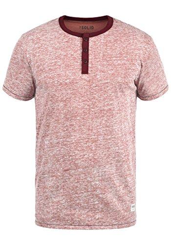 !Solid Telia Herren T-Shirt Kurzarm Shirt Mit Grandad-Ausschnitt, Größe:M, Farbe:Deco Rose (7322) -