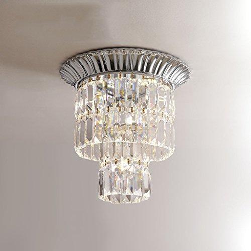LJF Lampe Pendelleuchten Luxuxdecken-Kristallleuchter, Wohnzimmer-Gaststätte-Beleuchtung [Energieklasse A ++] (Color : Chrome) -