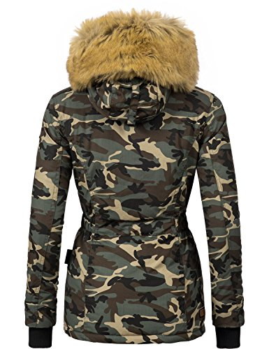 04eccf2568187c Navahoo Damen Jacke Winterjacke Winterparka Laura (vegan hergestellt) 6  Farben + Camouflage XS- ...