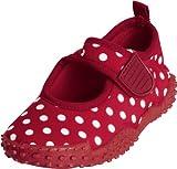 Playshoes Aquaschuhe, Badeschuhe Punkte mit höchstem UV-Schutz nach Standard 801 174776, Mädchen Aqua Schuhe, Rot (original 900), EU 24/25