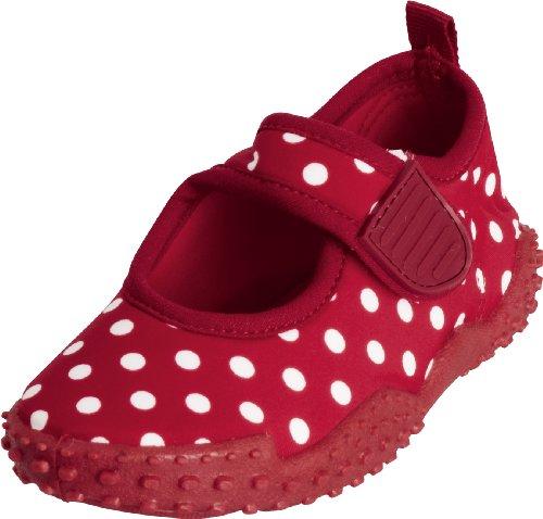 Playshoes Aquaschuhe, Badeschuhe Punkte mit höchstem UV-Schutz nach Standard 801 174776, Mädchen Aqua Schuhe, Rot (original 900), EU 30/31