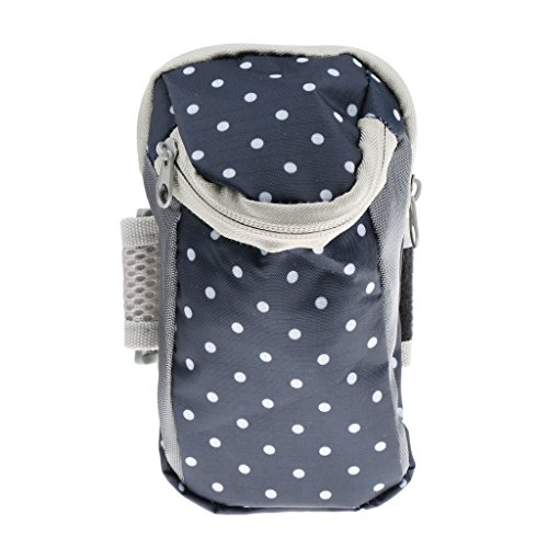 Generic Outdoor Sports Running Cycling Climbing Jogging Hiking Cell Phone Arm Bag Armband Case Keys Wrist Pouch Wallet - dark blue dot  available at amazon for Rs.275