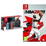 Nintendo Switch - Blu/Rosso Neon + NBA 2k18