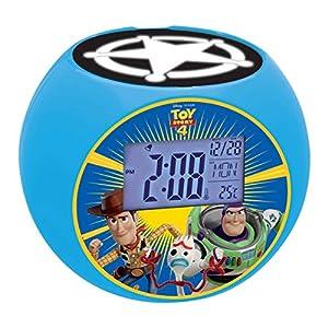 Lexibook, hor Disney Toy Story Woody & Buzz-Radio Despertador con proyección de Imagen y función quitamiedos, Efectos de Sonido, Hora Digital, Azul L975TS, Color
