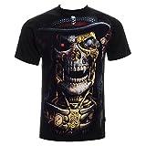 Espiral Direct Unisex-Camiseta Steam Punk Sense Muñeco Gótico/Calavera Todos los tamaños, Schwarz - Schwarz, Large