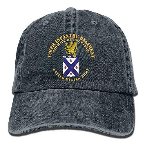 aseball Caps,Hüte, Mützen, Classic Baseball Cap, 126th Infantry Regiment Unisex Baseball Cap Cowboy Hat Dad Hats Trucker Hat ()