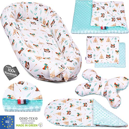 5 piezas PALULLI Set de equipamiento para bebé: nido para bebé de...