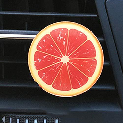 BOENTA Auto Parfüm Clip Niedlichen Cartoon Acryl Obst Stück Auto Outlet Parfüm Orange Zitrone Aromatherapie Auto Innendekoration Luftreiniger red -