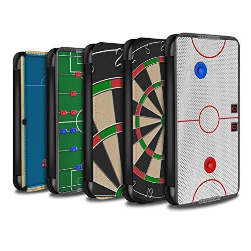 Stuff4 Coque/Etui/Housse Cuir PU Case/Cover pour Apple iPhone 5/5S / Jeu de Fléchettes/Triple 20 Design / Jeux Collection Pack 6pcs