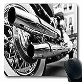 Luancrop Tapis de Souris Roadster Moto Double Échappement Pièces Sports Récréation Moto Oblong Gaming Tapis De Souris Tapis en Caoutchouc Antidérapant