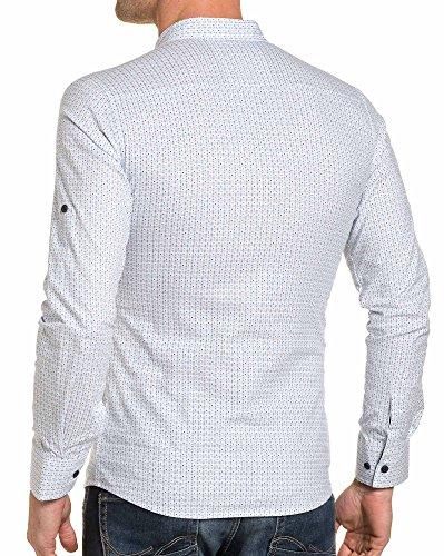 BLZ jeans - Chemise homme blanche à pression Blanc