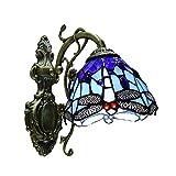 Wandleuchte Europäischen Barock Glasmalerei Wandleuchte Spiegel Schlafzimmer Badezimmer Schrank Leuchten,Blue