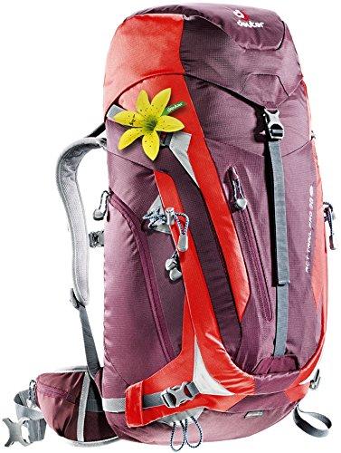 Imagen de deuter act trail pro  para montaña, mujer, morado aubergine / fire , 38 l